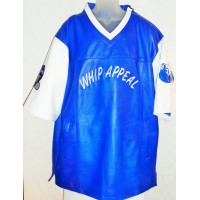 Whip Appeal Blue Leather Pullover