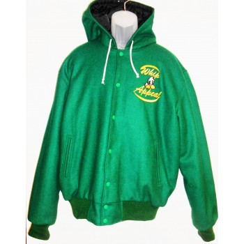 Green Wool Hoody  Jacket