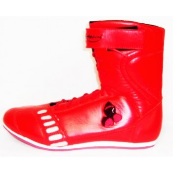 Red Leather Boxing Shoes