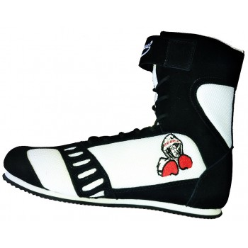 Black Suede High Top Boxing Shoes